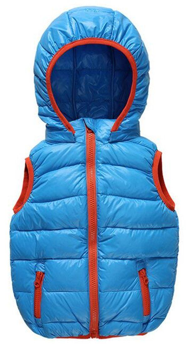 8ca36136d Yayu Kids Baby Boys Classic Soild Color Zip Hoodies Vest Down Jacket ...