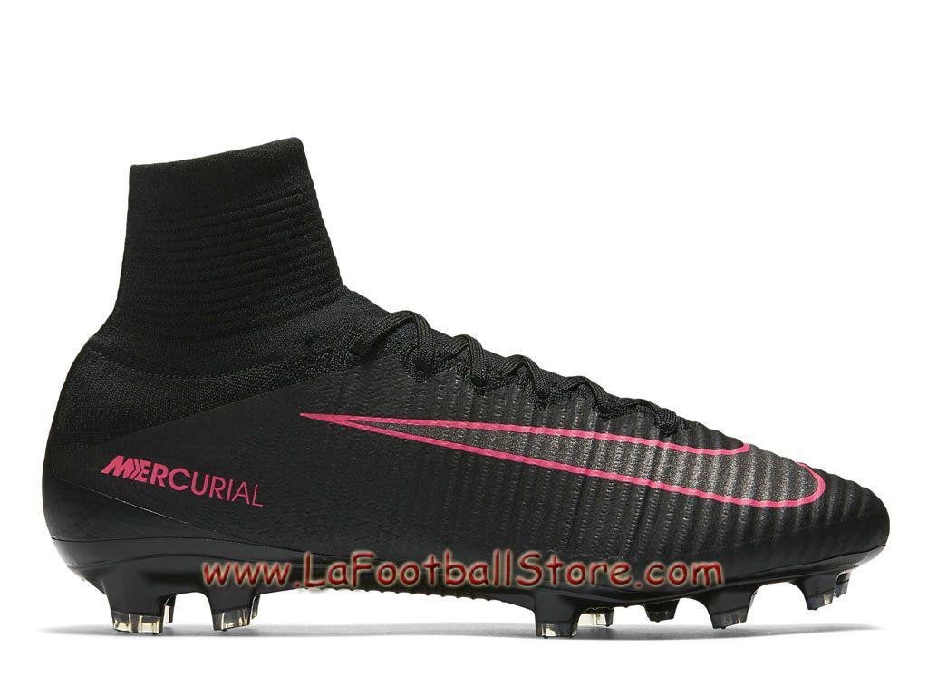 Nike Mercurial Superfly V FG Chaussure de football à crampons pour terrain  sec pour Homme Noir 3b499b4dd1c0
