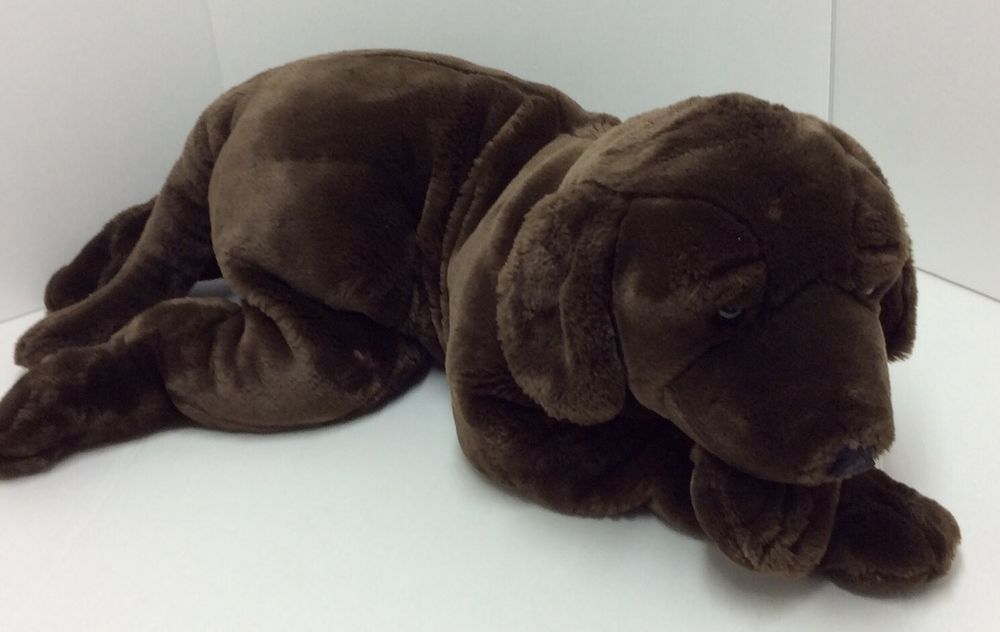 Jumbo animal alley chocolate lab dog plush 27 toys r us