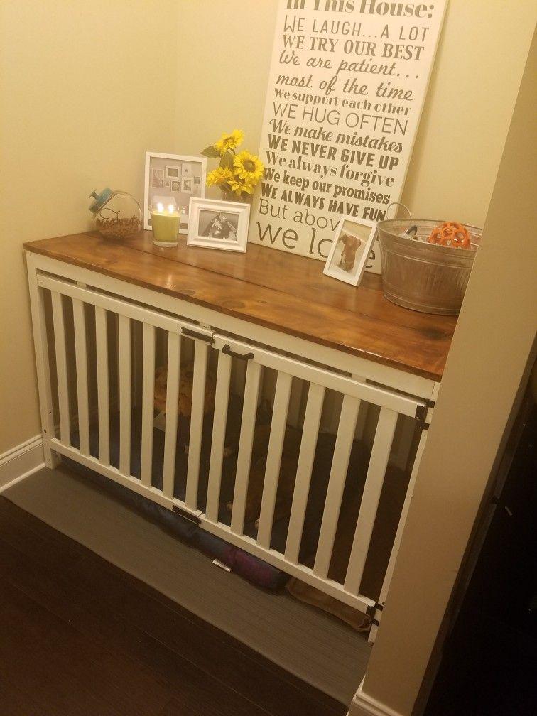 diy repurposed baby crib dog crate for my dog pinterest selber bauen. Black Bedroom Furniture Sets. Home Design Ideas