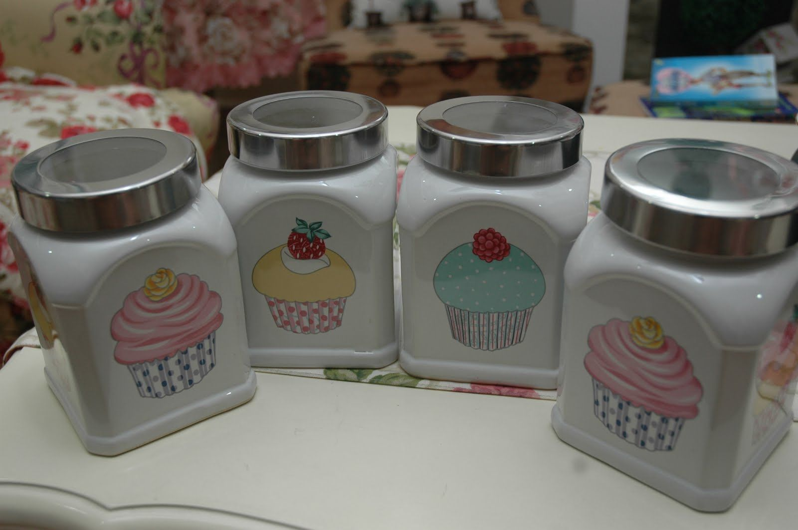 cupcake canisters for kitchen canisters cupcake kitchen decor kitchen decor sets cupcake kitchen theme 2074