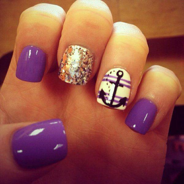 Anchor nail design graham reid 60 cute anchor nail designs 60 cute anchor nail designs nail design the purple prinsesfo Gallery