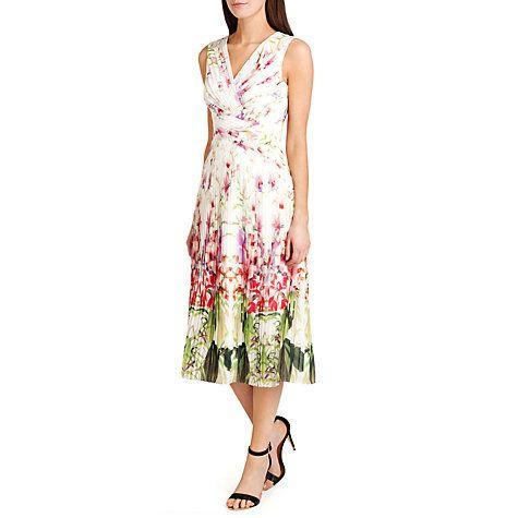 38b9d0828f Buy Ted Baker Risha Pleated Mirrored Tropics Midi Dress