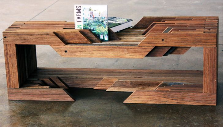 X Designers Transform Reclaimed NYC Lumber Into Fresh Modern - Reclaimed wood table nyc