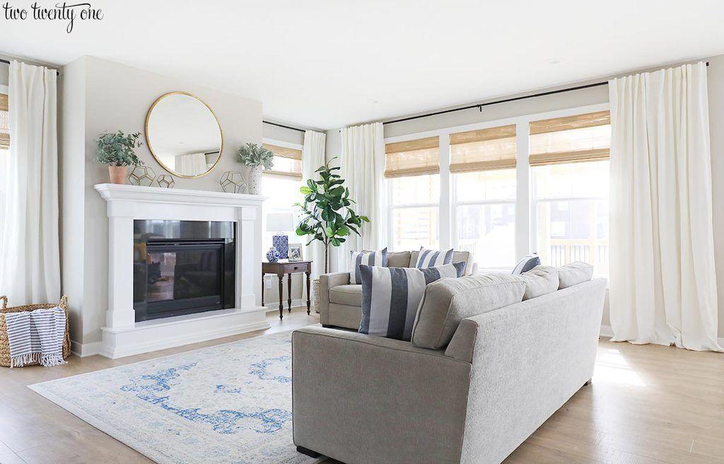 Budget Friendly Living Room Window Treatments In 2020 Window Treatments Living Room Living Room Windows Budget Friendly Living Room