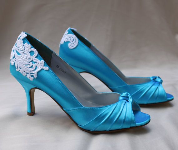 Something Blue Heels 2 5 Amory Wide Shoes By Thecrystalslipper