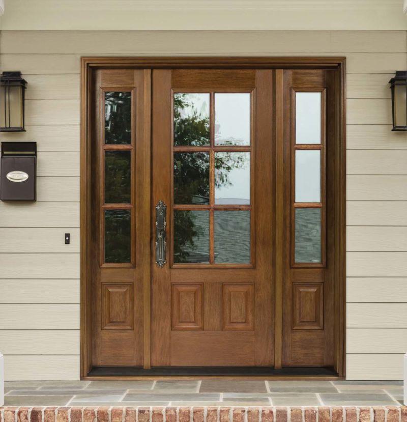 Jeldwen Architectural Door And Sidelights In 2021 Fiberglass Door Fiberglass Entry Doors Exterior Doors With Sidelights