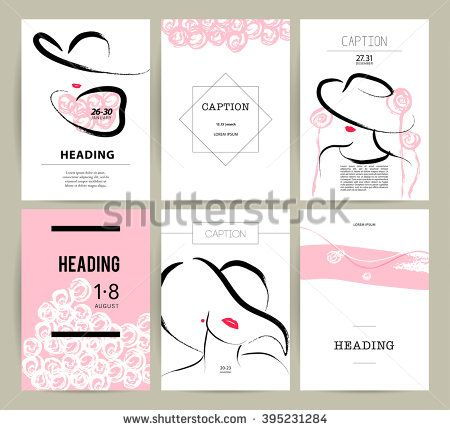 Creative artistic cards with hand drawn girl fashion beauty model close up make up accessories young attractive lady in hat party performance meeting invitation business card stock vector stopboris Image collections