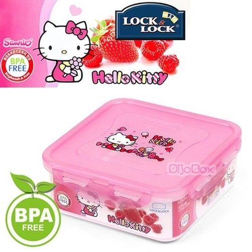 hello kitty x lock lock bpa free airtight lunch box bento container 870ml hello kitty. Black Bedroom Furniture Sets. Home Design Ideas