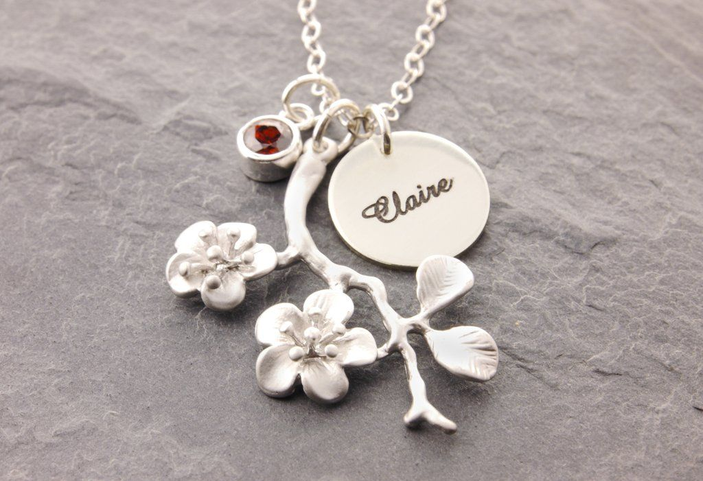 Cherry blossom jewelry. Mother Daughter Necklace Set Mother Daughter Set Mother Daughter Jewelry Cherry blossom necklace