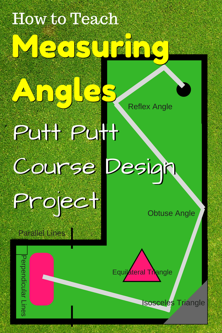 Measuring Angles Putt Putt Course Design Project Geometrycoach Com Teaching Geometry Geometry Projects Geometry High School [ 1102 x 735 Pixel ]