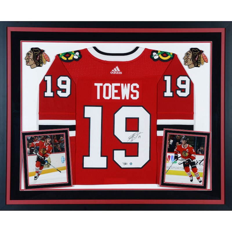 Jonathan Toews Chicago Blackhawks Fanatics Authentic Deluxe Framed  Autographed Red Adidas Authentic Jersey 6f077b039