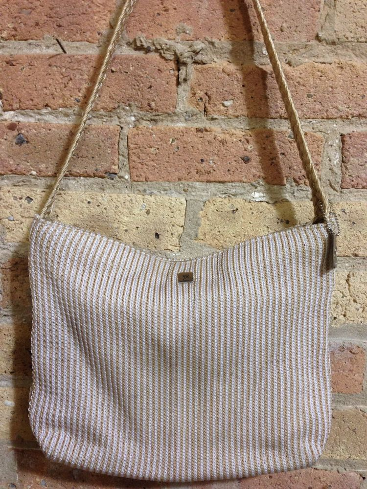 fee12fee4662d Lina Beige Crochet Woven Shoulder Bag Braided Strap  Lina  ShoulderBag