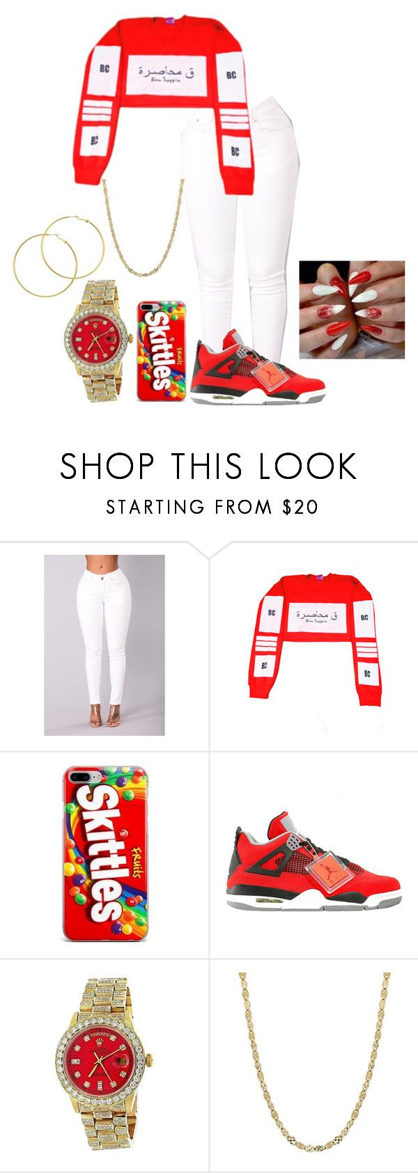 """Red N White BC"" by kodeineshay ❤ liked on Polyvore featuring Rolex and Melissa Odabash"