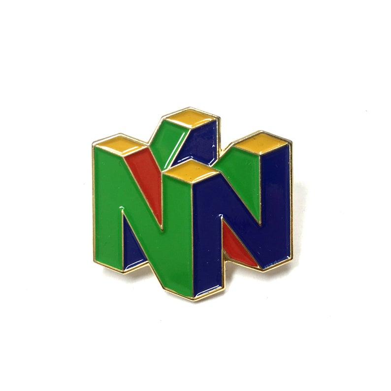 Nintendo 64 Esmalte Pin Videojuego Nerd 90s Nostalgia Heady Etsy Pin Logo Nerd Enamel Pins