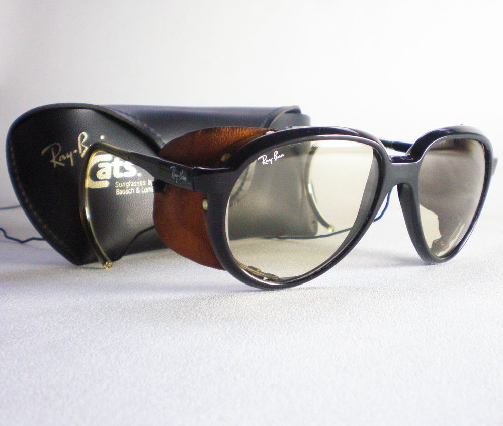 a169ef7501f03 Vintage Ray Ban CATS 7000 GLACIER CHANGEABLES Sunglasses side shield aviator