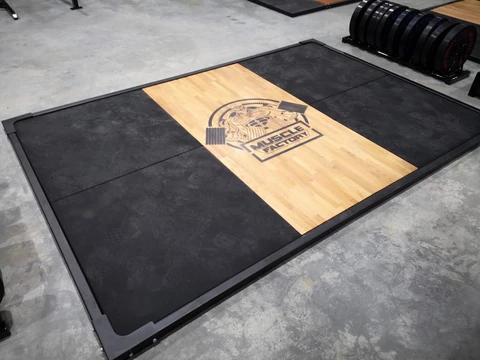Deadlift Platform 2 4m X 1m Bench Fitness Equipment In 2020 Diy Gym Equipment Crossfit Garage Gym Home Gym Design