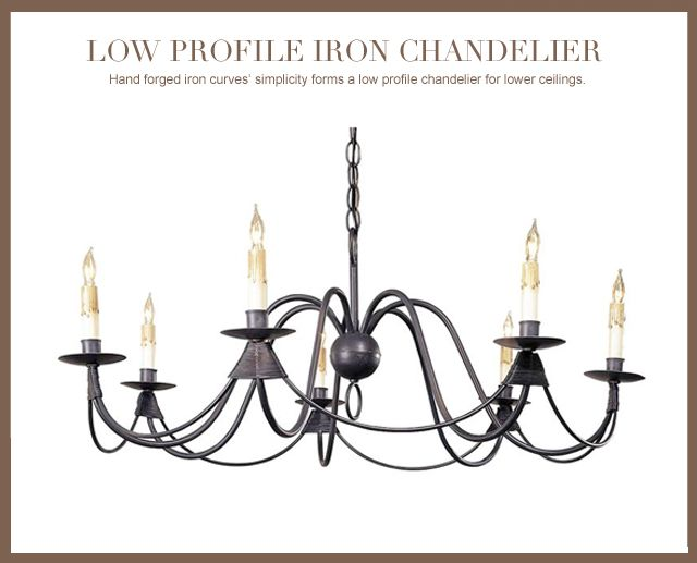 Ruther Nouveau Black Iron Low Profile 7 Light Chandelier #kathykuohome #chandelier