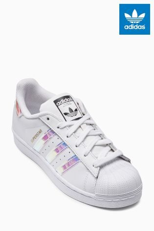 Buy White/Holographic adidas Originals Superstar from the Next UK online  shop