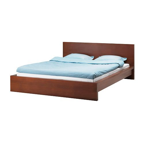 $199, ikea. A lower (height-wise and price-wise) version of the king-sized bed frame.