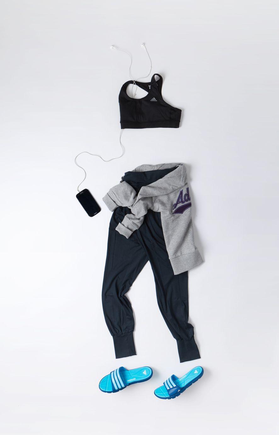 adidas performance, fitness flatlay, gym flatlay 옷, 제품, 의류