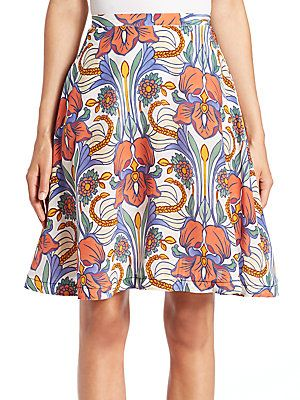 658f022892 Aquilano Rimondi Floral-Print Silk Skirt - Color - Size | Products ...