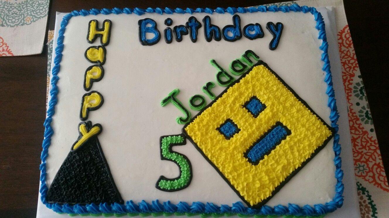 Geometry Dash Cake Sonic Cake Minecraft Cake Cake