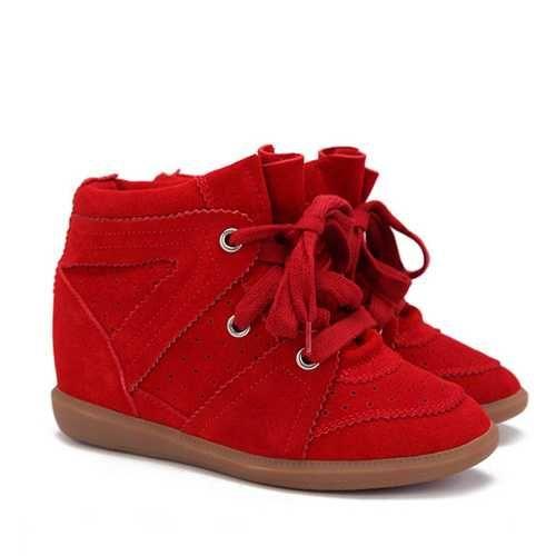 950eeae77b5 Isabel Marant Sneakers Bobby Red Suede | Isabel Marant Sneakers ...