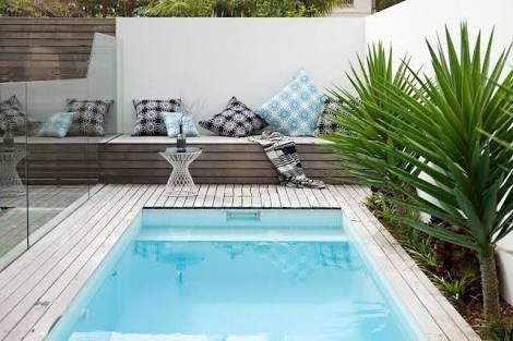 Resultado de imagen para piscinas pequenas patio Pinterest Patios
