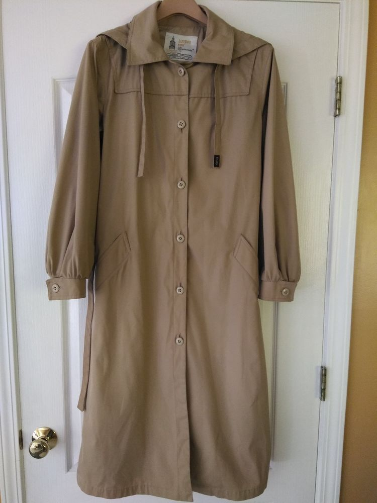 0a955d15c6bc3 Vintage London Fog Womens Size 12 Trench Rain Coat Full Length Removable  hood  LondonFog  TrenchCoat