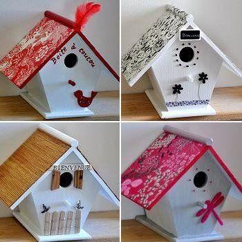 Idee deco maison oiseaux cabanes d 39 oiseaux birdhouses for Decoration maison oiseau
