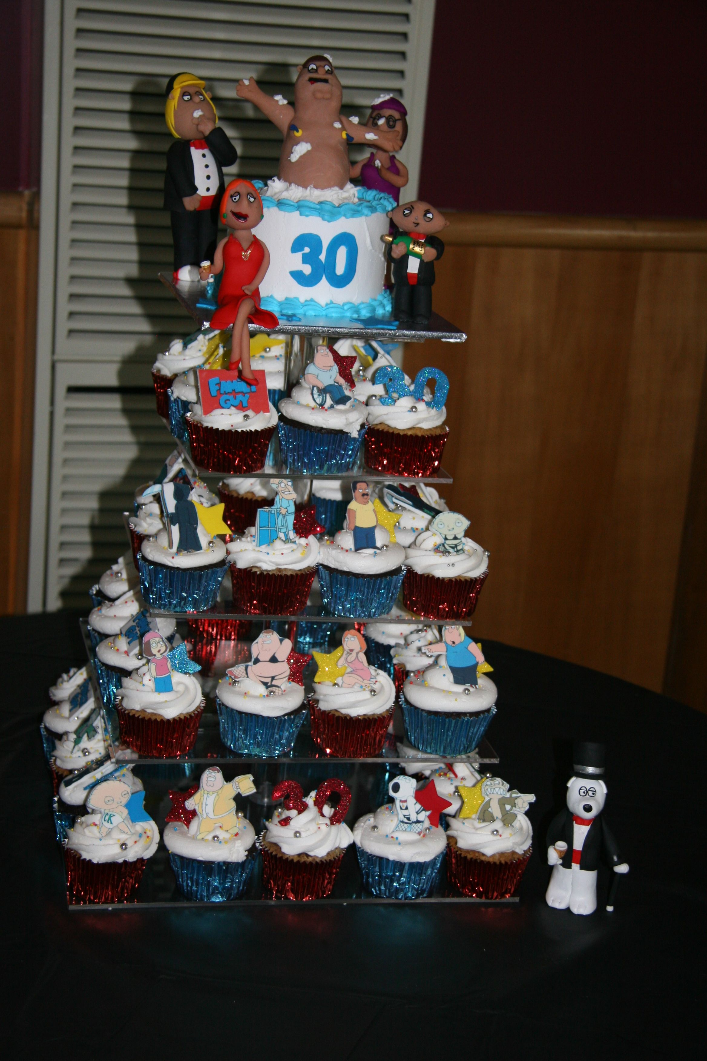Marvelous Family Guy Birthday Cake Complete With Hand Made Characters Personalised Birthday Cards Veneteletsinfo
