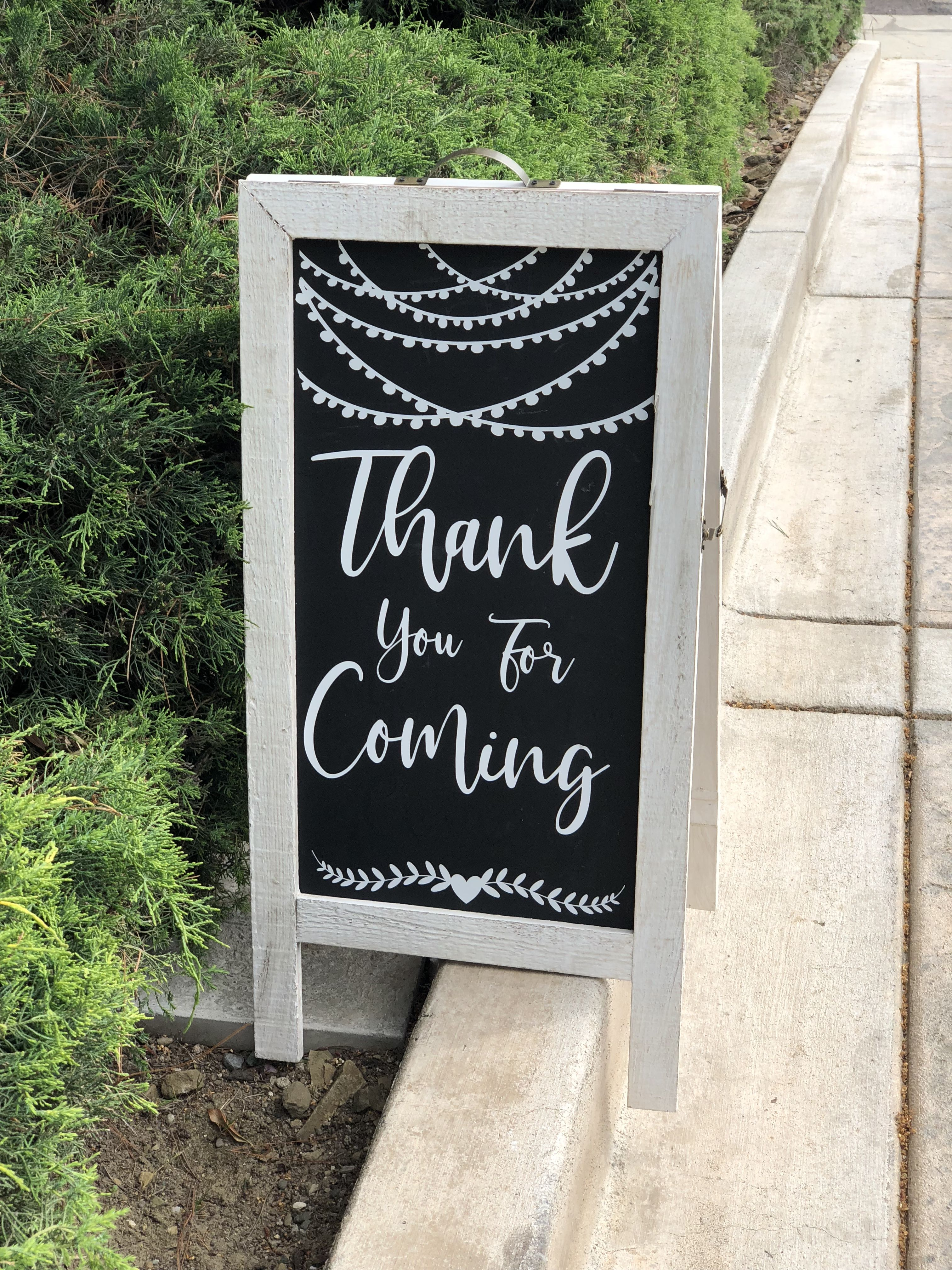 Thank You For Coming Chalkboard Sign Sandwich Board From Michael S
