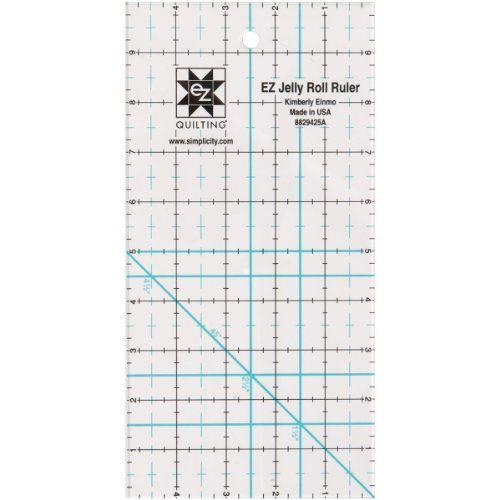 Simpli-EZ 8829425 Jelly Roll Rollschneide-Lineal 13 x 25 cm Simpli ...