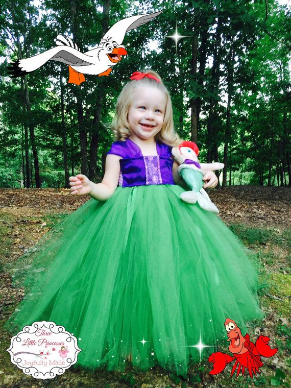 Ariel Tutu Dress Ariel Costume Ariel Dress Vestido De