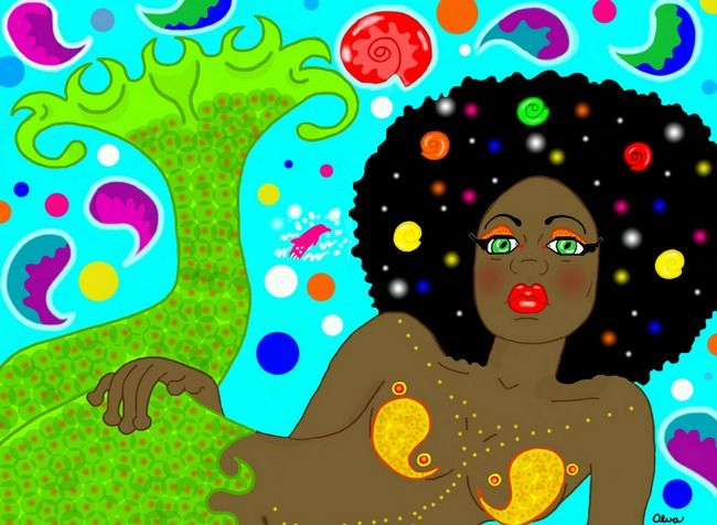 """Psychadelic Mermaid"" by Louise Alva"