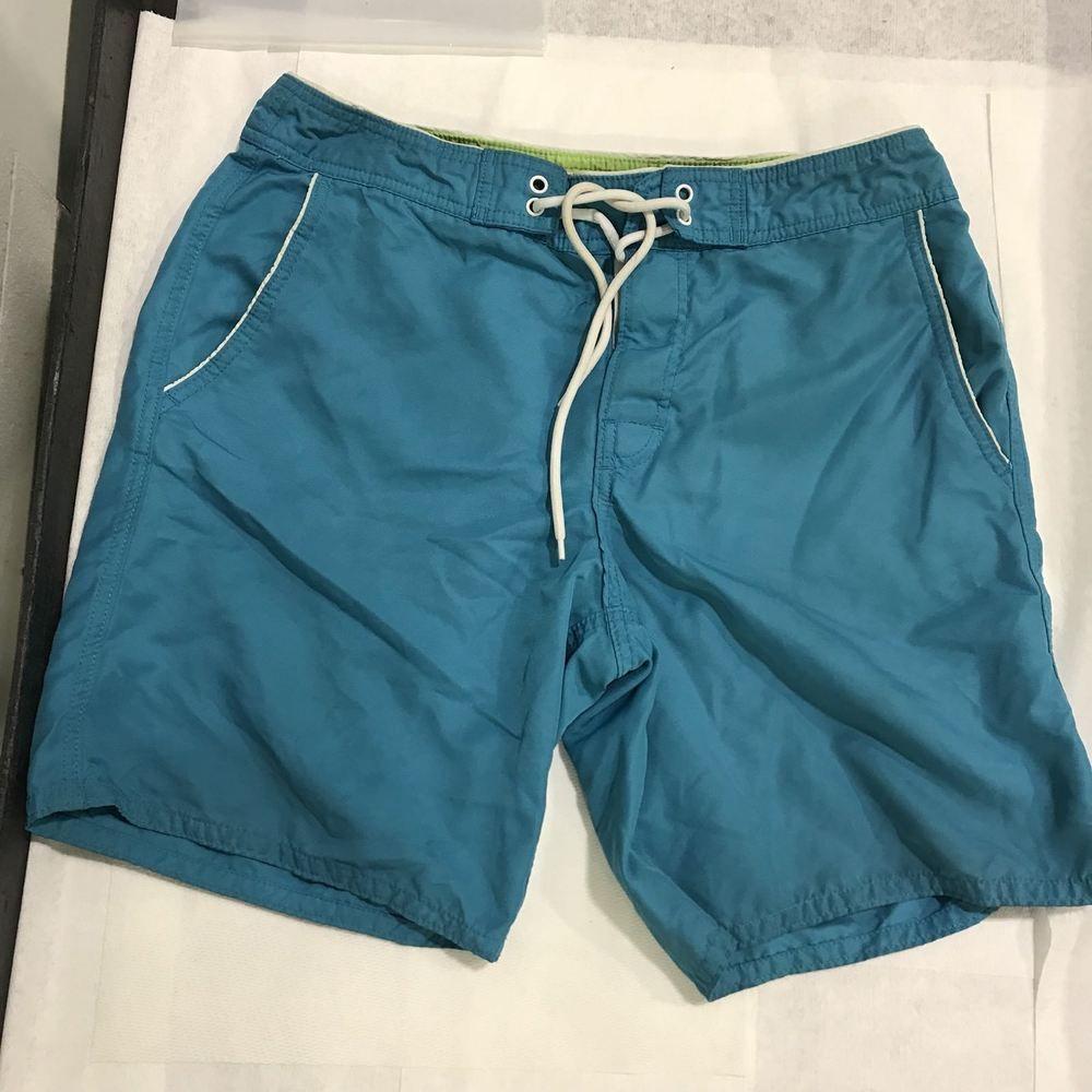 df876fb148 Bonobos Mens Swim Trunks SZ 33 Blue/White Trim 9
