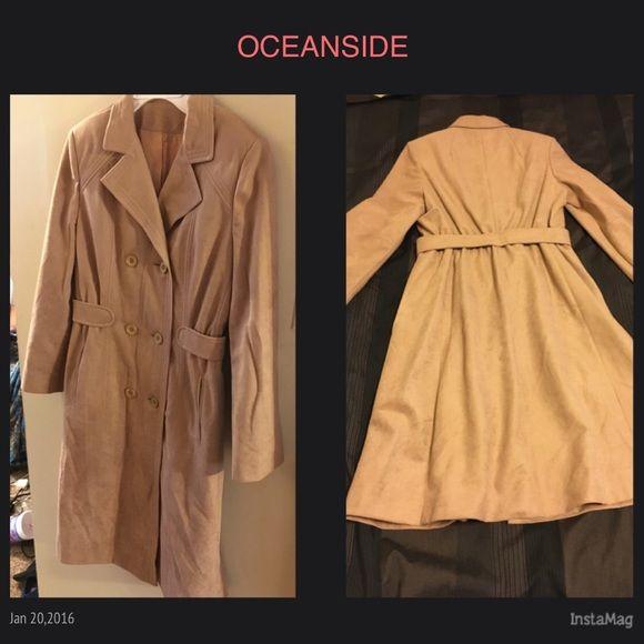 vintage light long coat vintage voyager west custom ette all weather traveler s/m Jackets & Coats