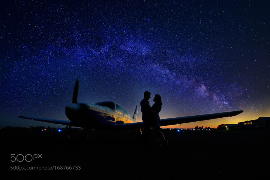 Lovers under the milky way by normanng