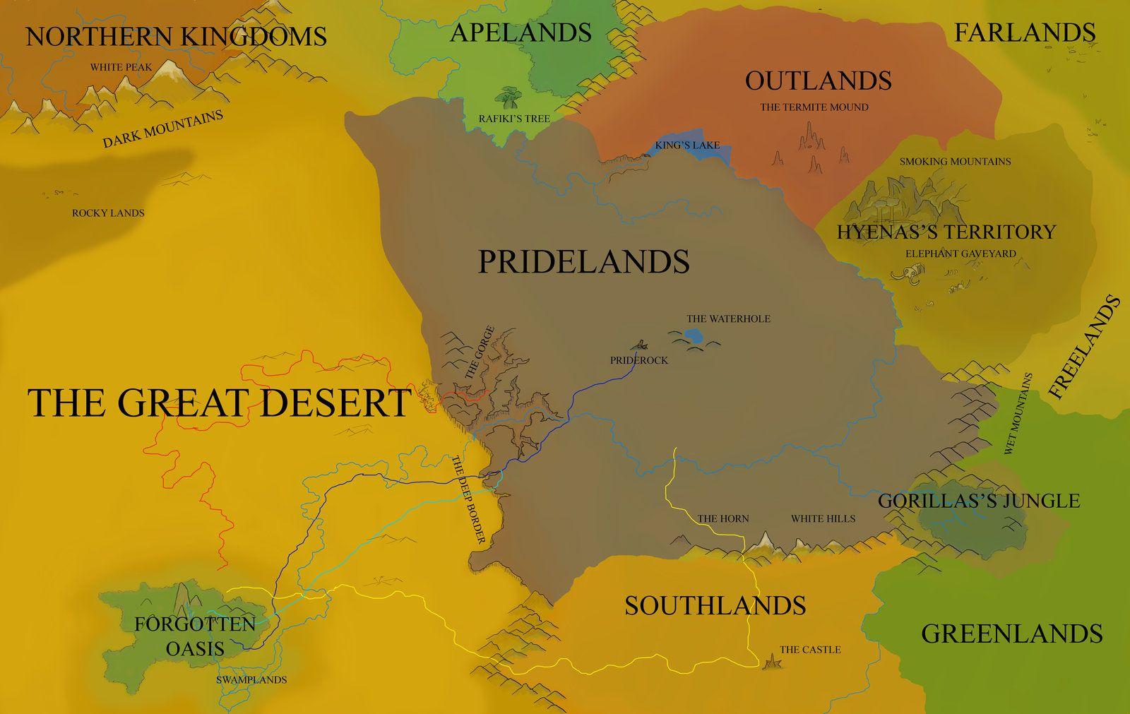 Africa Map Horn Of Africa%0A Pridelands Political Map by FireLeviathan deviantart com on  deviantART