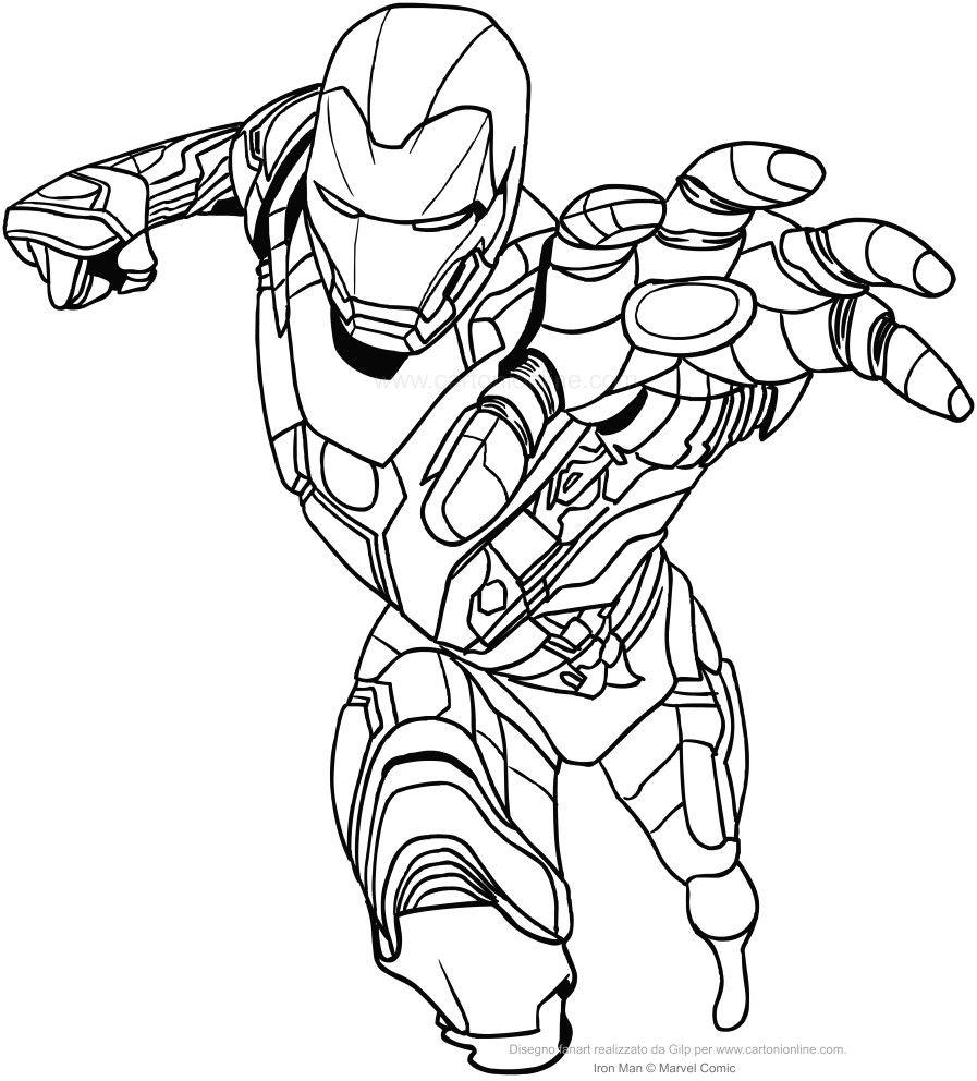 Iron Man Da Colorare Acolori Download Con Disegni Marvel Da