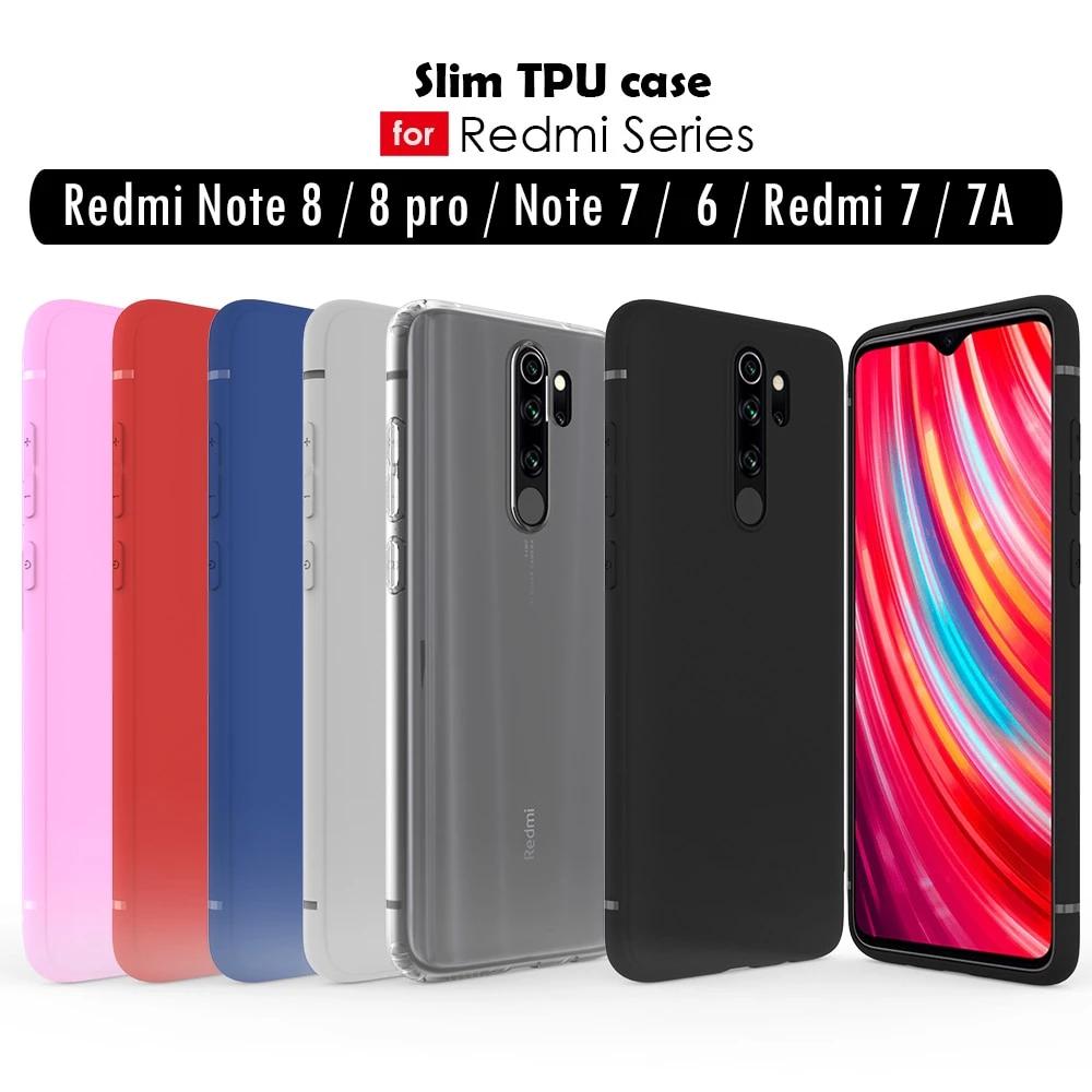 Redmi Note 8 Pro 7 6 pro 5 Redmi 8A 7A K20 case silicone