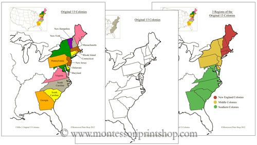 Colonies In The Us Map - Us map 13 colonies