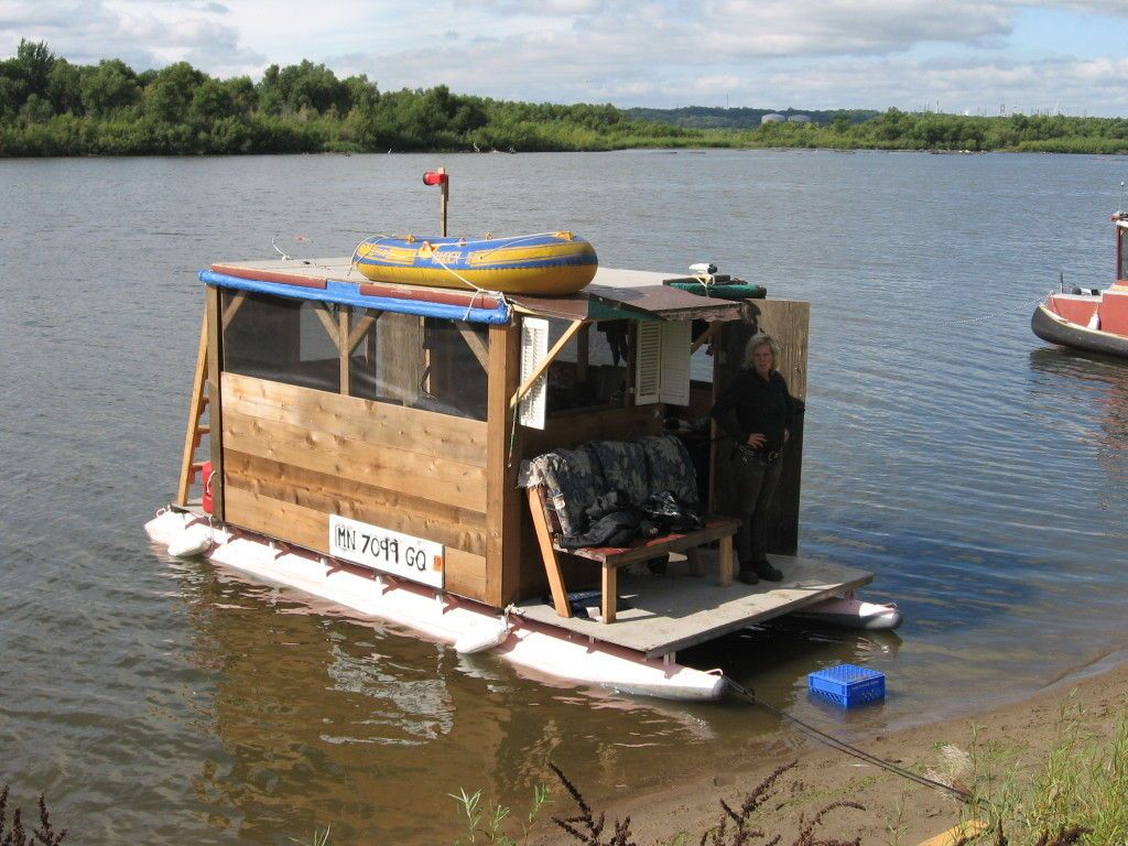 Homemade Houseboat Homemade Boating and House