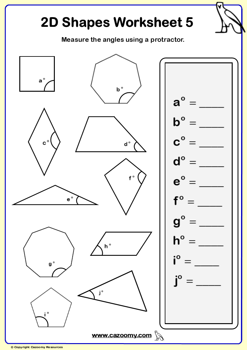 Measure the angles in the 2D Shapes 🔥👍 in 2020 Shapes