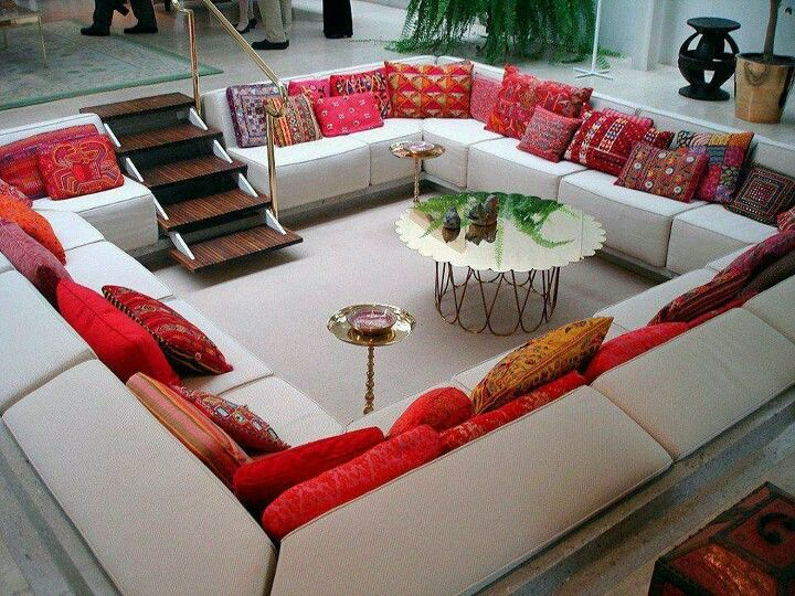 Square Couch design- lounge and study in barn---could do this with