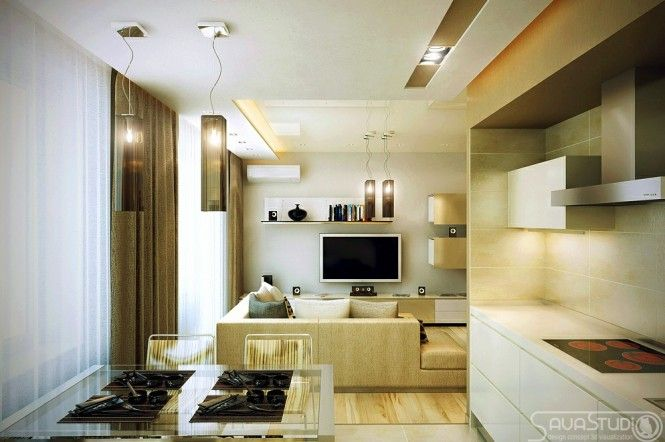 Modern kitchen diner lounge