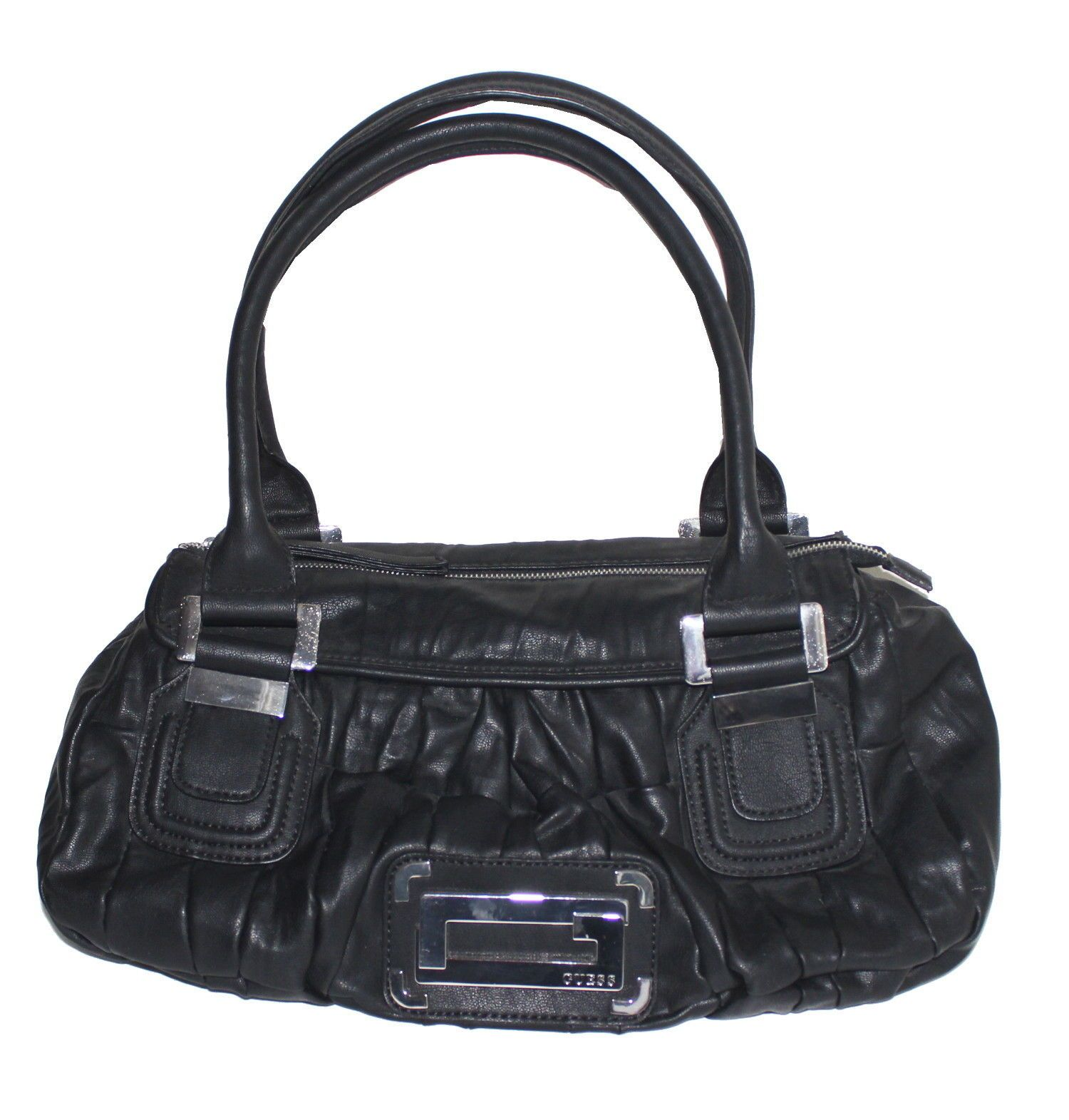 0570264a375 NWT Guess Women s Tulip Satchel Handbag, Black  29.95   Guess ...