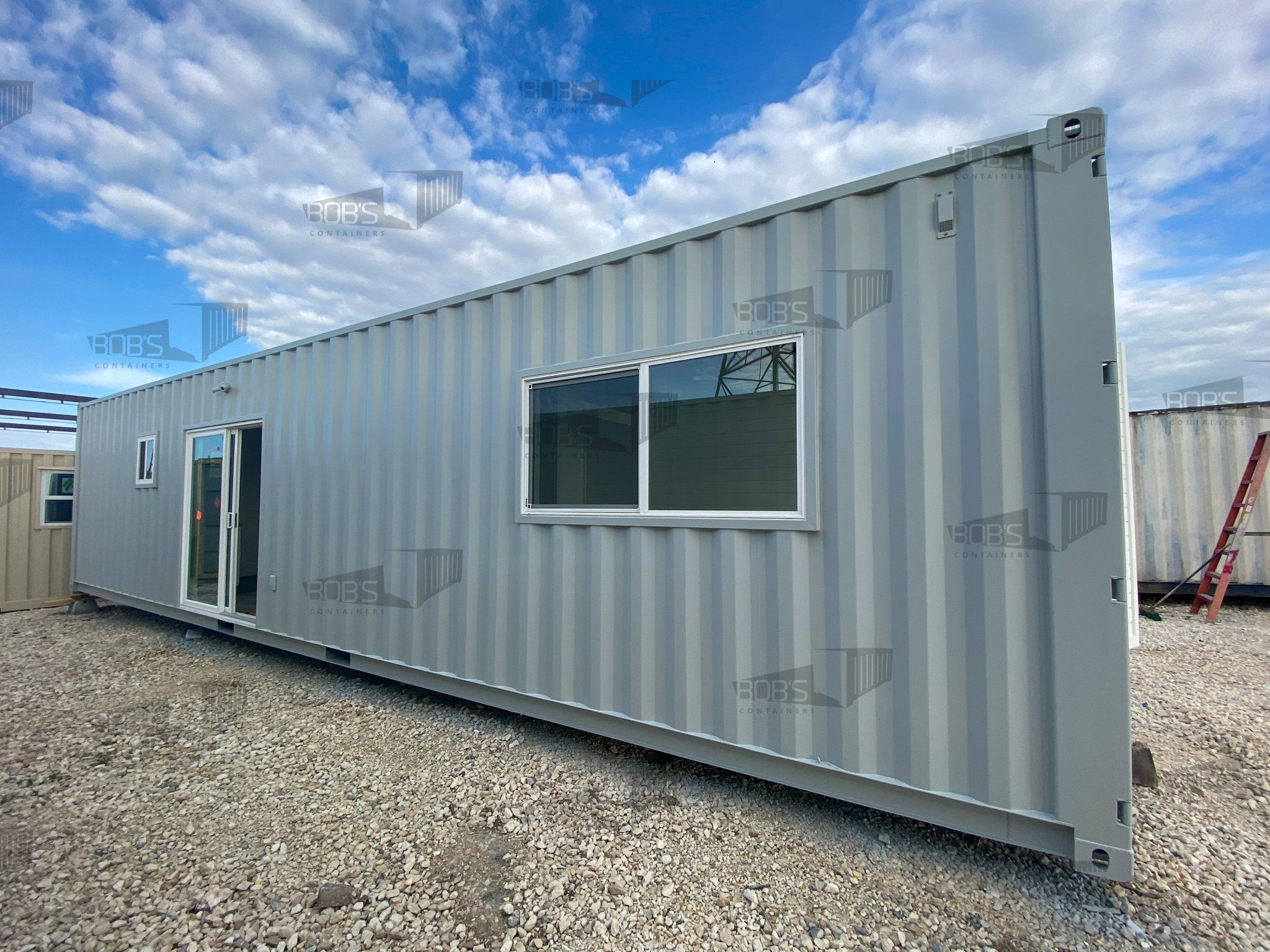 40 ft Container - The Alpine Model - Panel / 30 ft Deck w/ Stairs / Solar Only