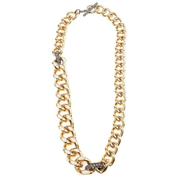 Lanvin cord detail chain ($995) ❤ liked on Polyvore featuring jewelry, necklaces, accessories, bijoux, jewels, chains jewelry, chain link necklace, gold tone necklace, cord necklace and lanvin jewelry